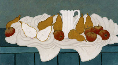 Pears and white jug