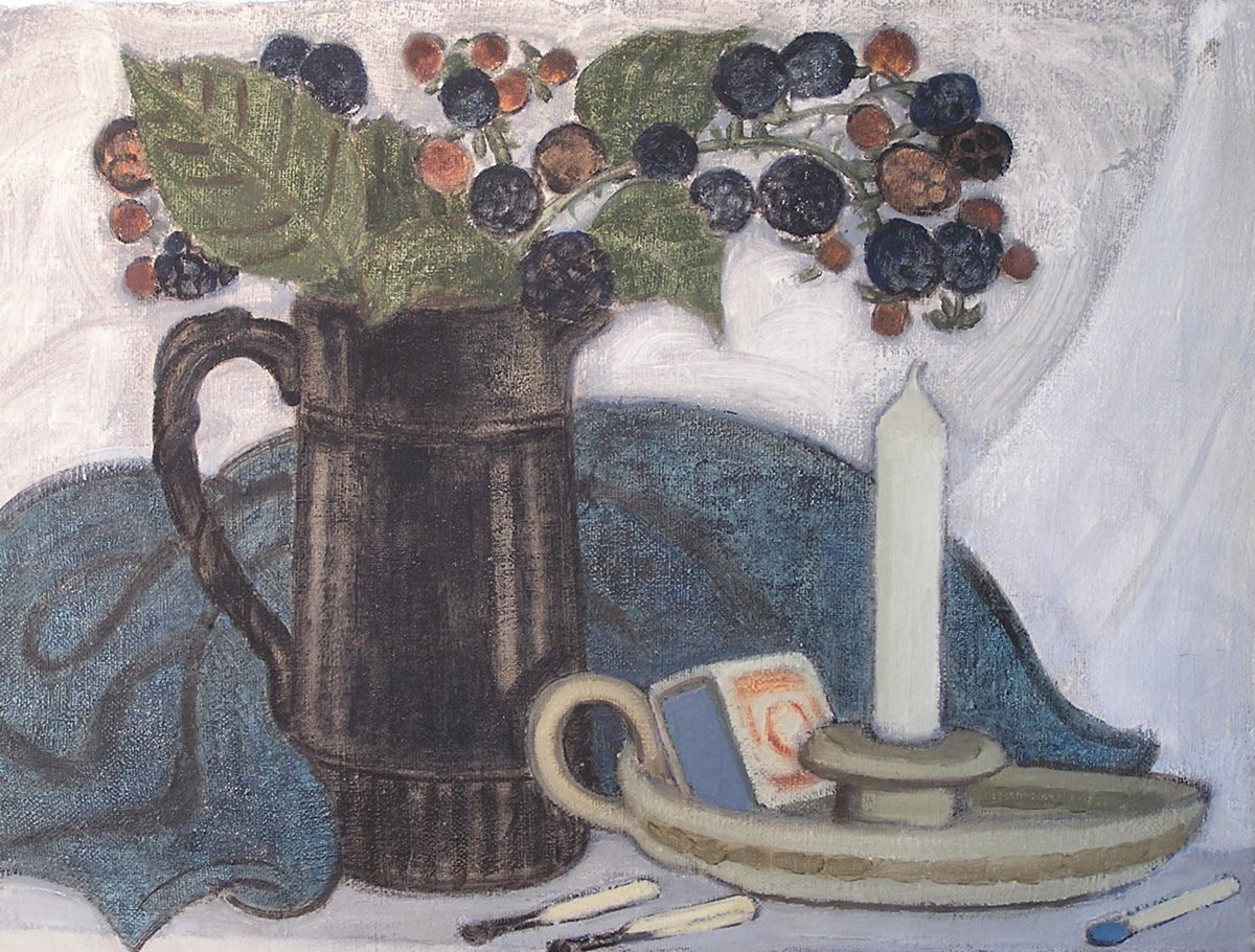 Still Life with Black Jug and Brambles